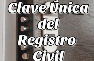 Clave Única del Registro Civil
