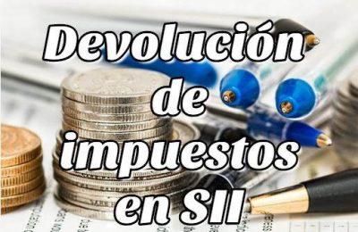 Devolución de impuestos en SII