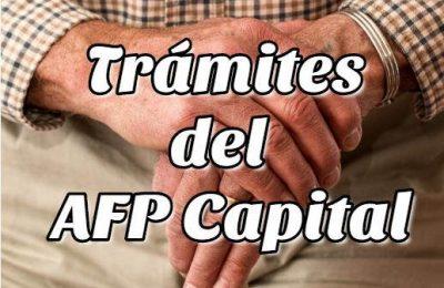 Trámites del AFP Capital