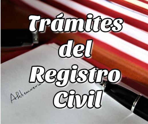 Trámites del Registro Civil