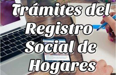 Trámites del Registro Social de Hogares
