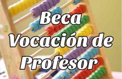 beca vocación de profesor