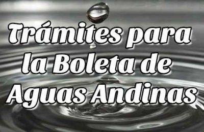 boleta de aguas andinas