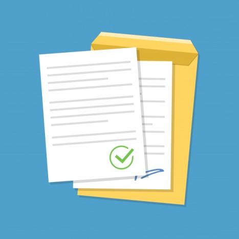 Documentos confirmados o documentos aprobados.   Vector Premium