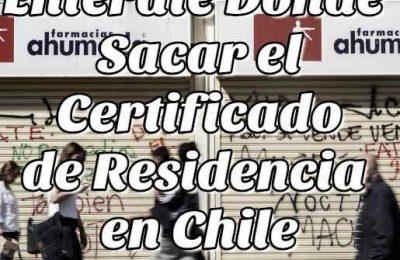 sacar certificado residencia en Chile