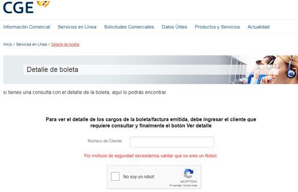 boleta Luz CGE 5