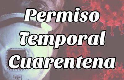 permiso temporal cuarentena
