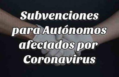 subveciones autónomos coronavirus