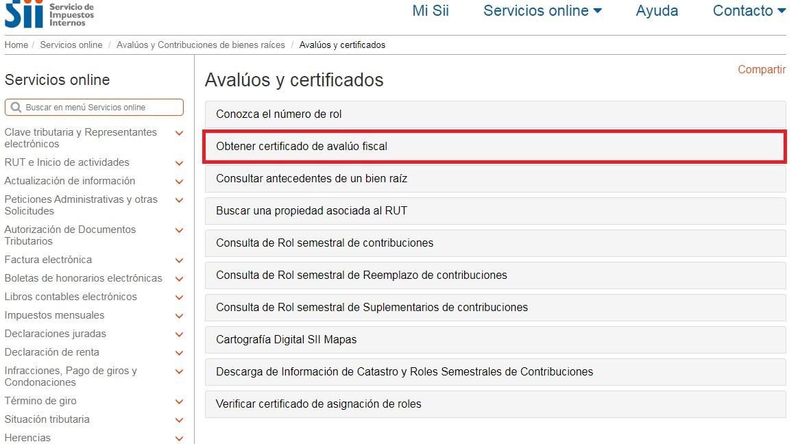 Cómo descargar el certificado de avalúo