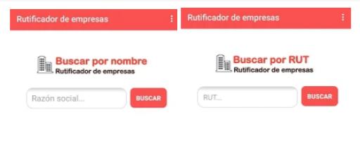 RUT DE EMPRESA POR NOMBRE Y RUT