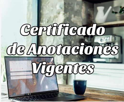 certificado anotaciones vigentes
