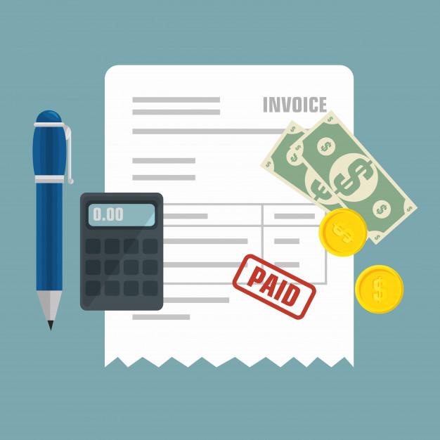 Icono aislado de concepto de pago de factura | Vector Premium