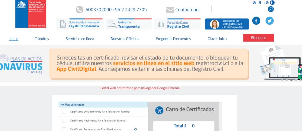 Portal de Datos: Así funciona la plataforma donde el Registro Civil comparte datos de nombres, muertes y nacimientos