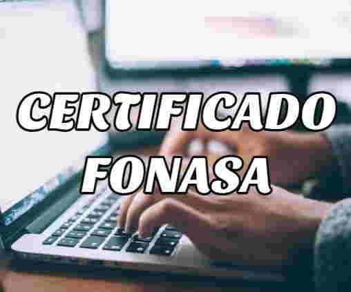 sacar certificado fonasa